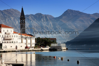 Perast village near Kotor, Montenegro
