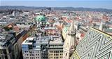 Panorama of Vienna, aerial view from Stephansdom cathedral, Vien