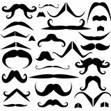 Set of mustaches for fun