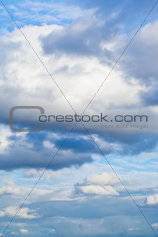 big cumulus cloud in afternoon autumn sky