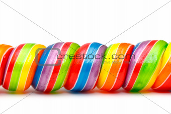 Rainbow Twirl Lollipop Candies
