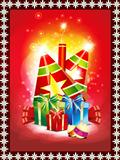 abstract diwali background with gifts