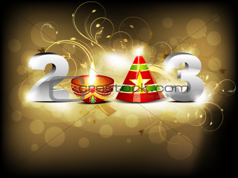 abstract glossy new year wallpaper