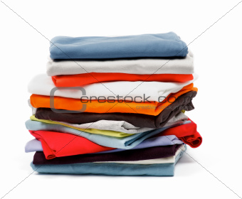 Stack of Color Clothes