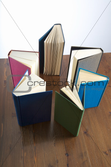star of books on table