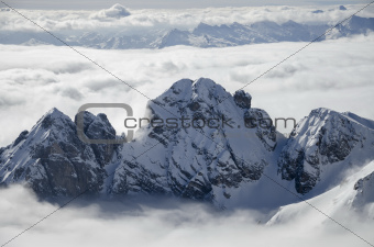 Dolomites in the Clouds
