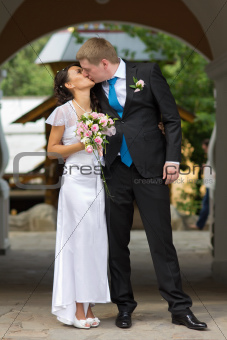 beautiful couple kissing