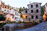 Narrow Street of Old Vernazza at Morning, Cinque Terre, Italy