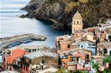 The Medieval Church in the Village of Vernazza, Cinque Terre, It