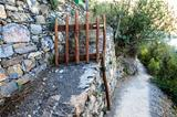 Wooden Gate on the Path from Vernazza to Corniglia in Cinque Ter