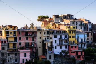 The Medieval Village of Corniglia at Morning, Cinque Terre, Ital