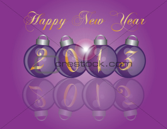 2013 New Year Purple Ornaments