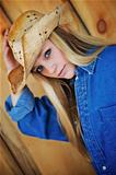 Blond Model with Cowboy Hat