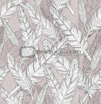 Abstract feathers pattern. Seamless pattern.