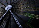 Big ferris wheel at night