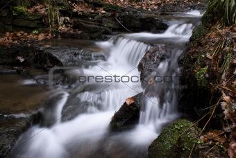 Waterfall, Beeley woods Derbyshire