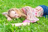 sexy young woman in a meadow