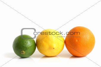 The composition of lemon, lime and orange
