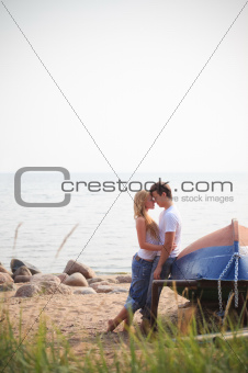beautiful couple on a beach