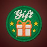 Vector gift fabric badge