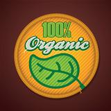 Vector 100% organic fabric badge