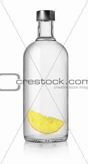 Vodka and lemon