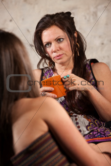 Concerned Woman Listening to Friend