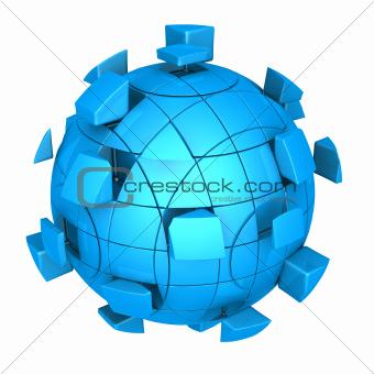 Futuristic sphere