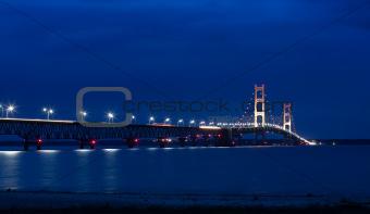 Mackinac Bridge at Night