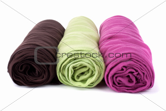 Three color rolled woman's scarfs