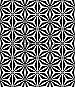 Op art pattern. Seamless geometric texture.