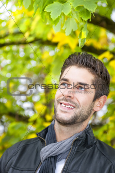 young man in the autumn