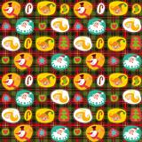 Christmas seamless background, plaid pattern, wrapping paper