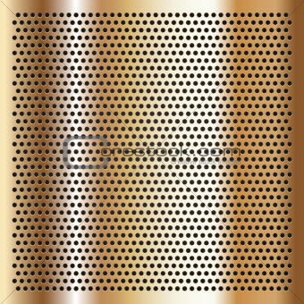 Gold background perforated sheet