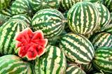 Organic Ripe Watermelon Heap