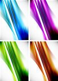 Abstract colorful line background set