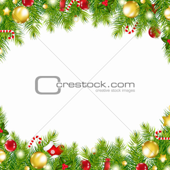 Christmas Vintage Border