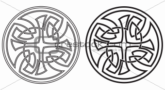 Celtic vector round ornament. Set