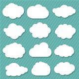 Cartoon Clouds Set