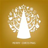 Merry Christmas Golden Card