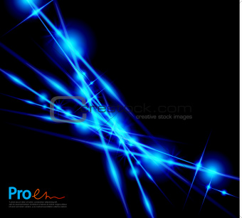 Blue lightning abstract background