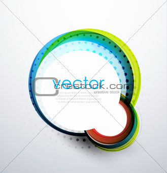 Abstract swirl circle banner