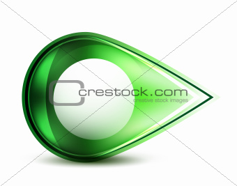 Green glossy abstract pointer
