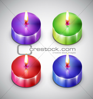 Aroma candle icons