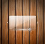 Vector glass and wooden wall