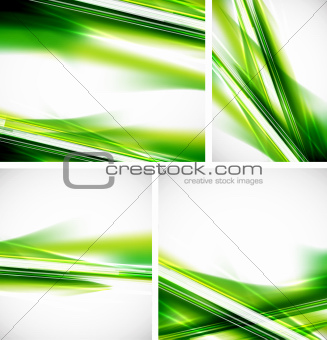 Green lines background set