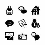 Social internet vector icons
