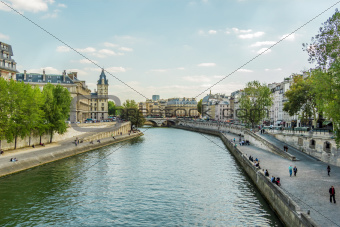 Seine embankment, Paris, France