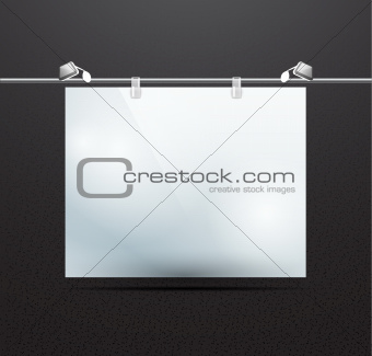 Vector detailed illustration of screen for ad