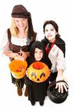 Halloween Trick Or Treaters Isolated